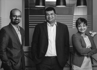 From left to right - Thriyambak Kannan, Rohan Cherian and Renu Gopalakrishnan